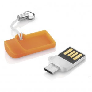 Pendrive 16GB Multilaser Dual USB Micro SD Smartphone PD508 OTG