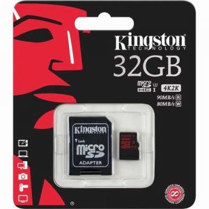 Micro SD 32GB Kington Classe 10 4K 2K Com Adaptador 2x1