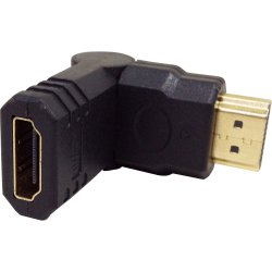 Adaptador HDMI Macho  x  HDMI Femea Gold 180(o)