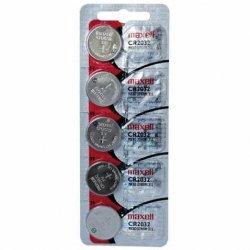 Bateria CR2032 Lithium Maxell Cartela C/5 Unidade