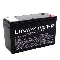 Bateria Selada 12V/7A UNIPOWER P/ SEG