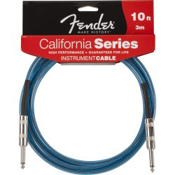 Cabo para Instrumentos P10 x P10 3m CALIFORNIA SERIES Azul FENDER