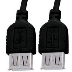 Cabo USB Extensor Femea Femea X-CELL Preto
