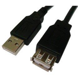 Cabo USB2.0 A Macho + A Femea 3 Metros 3002 Preto