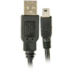 Cabo USB2.0 x Mini USB 5 Pinos 1,8 Metros Preto