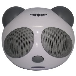 Caixa De Som Panda  USB/SD/ Cinza