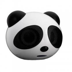 Caixa De Som Panda  USB/SD/ Preta