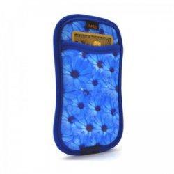 Capa Iphone 5 Reliza Flores Azuis Porta Cartao