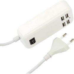 Carregador USB 4 Portas 4000mA XC-USB-4 Branco X-CELL