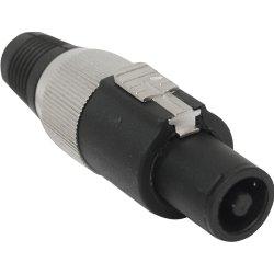 Conector Speakon de Linha Macho 4 Pólos PGSP0004 Preto/Cinza STORM