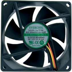Cooler EC8025M12SA 80X80X25 Sleeve 3P EVERCOOL