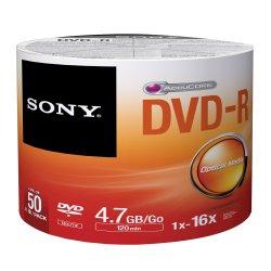 DVD-R Pino 120 min 4.7GB 16x Com 50 Unidades 50DMR47SBZ2LA SONY