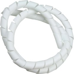 """Fita Espiral para Organizador de Cabos 3/4"""" 2 Mts Branco HELLERMANN"""