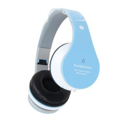 Fone de Ouvido Sem Fio Bluetooth e SD B-01 Azul