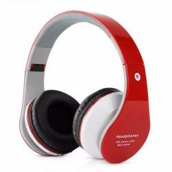 Fone de Ouvido Sem Fio Bluetooth e SD B-01 Vermelho