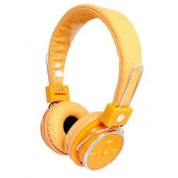 Fone de Ouvido Sem Fio Bluetooth e SD B-05 Laranja