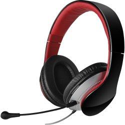 Headset com Alça e Microfone Dobrável e Removível K830 Preto e Vermelho EDIFIER