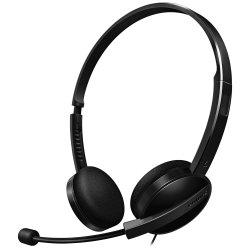 Headset com Haste Rotacional e Cancelamento de Ruído SHM3550/10 Preto PHILIPS