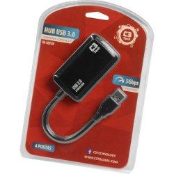 Hub USB 4 Portas HU-300BK Preto C3 TECH