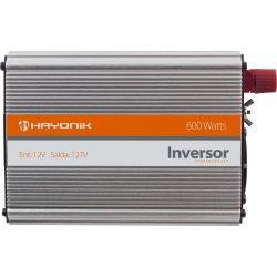 Inversor de Onda Modificada 12VDC/127V USB 600W HAYONIK