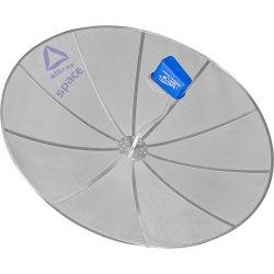 Kit com 4 Antenas Parabólicas Para Parede 1,70m Banda C SPACE ALBRAX