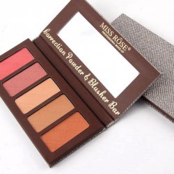 Maquiagem Paleta Matte Blusher Bar 5 Cores Miss Rose 7004