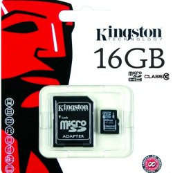 Micro SD 16GB Kingston Classe 10 Ultra Com Adaptador 2x1