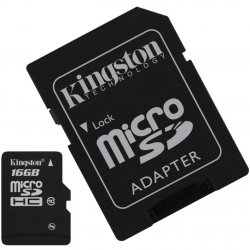Micro SD 16GB Kingston Com Adaptador 2x1