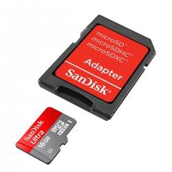 Micro SD 16GB Sandisk Classe 10 Ultra Com Adaptador 2x1 48 MB/s 320X