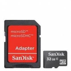 MICRO SD 32GB SANDISK COM ADAPTADOR 2X1