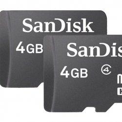 Micro SD 4GB Sandisk Classe 4 Com Adaptador 2x1