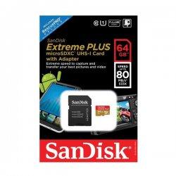 Micro SD 64GB Sandisk SDXC UHS-I Extreme Plus 80 2x1 533X