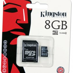 Micro SD 8GB Kingston Com Adaptador 2x1