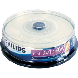 Mídia Mini DVD-RW 2x 1,4GB PHILIPS