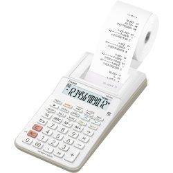 Mini Calculadora com Bobina 12 Dígitos HR-8RC-WE-B-DC Branca CASIO