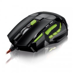 Mouse Gamer Optico USB 2000DPI MO208 Led Verde Multilaser