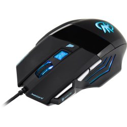 Mouse Gamer Optico USB Black Hawk 2400 DPI Preto FORTREK