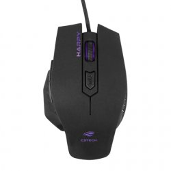 Mouse Gamer USB HARPY 3200DPI MG-100BK Preto C3 Tech