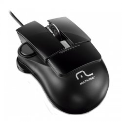 Mouse Optico USB MO190 Free Scroll Multilaser Preto