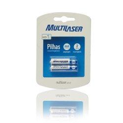 Pilha AAA Recarregavel 1000MAH C/2  CB051 Multilaser