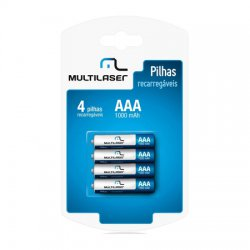 Pilha AAA Recarregavel 1000MAH C/4  CB050 Multilaser