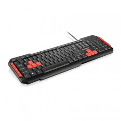 Teclado Gamer Multimidia USB Red Keys TC160 Multilaser