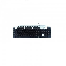 Teclado Multimidia TC306 USB NewLink Light Prata/Preto