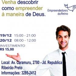 Videira Ribeirao Preto *Promove * Palestra Empreendedores do Reino