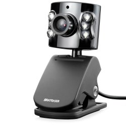Webcam Multilaser c/ Microfone WC040 Preto