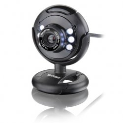 Webcam Multilaser WC045 Night Vision 6 LEDS Preto